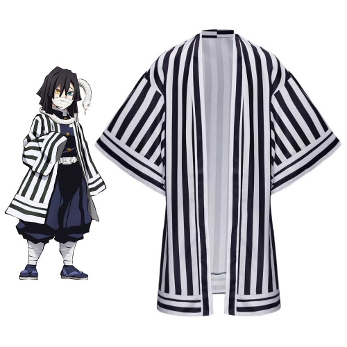 Demon Slayer Kimetsu no Yaiba Obanai Iguro Cosplay Cape Black Purple