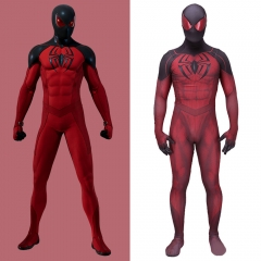 Spiderman PS4 Kaine Parker Scarlet Spider 2 Cosplay Costume Adult Kids