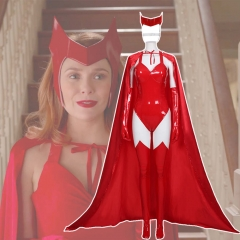 New 2021 Scarlet Witch Wanda Maximoff Cosplay Costume-WandaVision