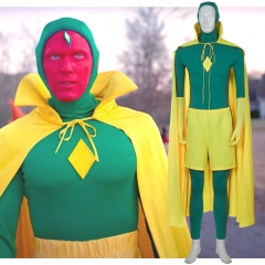 WandaVision Superhero Vision Cosplay Costume Newest Full Set