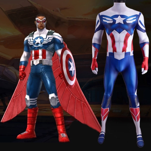 The Falcon and the Winter Soldier Sam Wilson Captain America Cosplay Costume Adult Kids