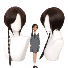 Wonder Egg Priority Neiru Aonuma Cosplay Wig Dark Brown Hair